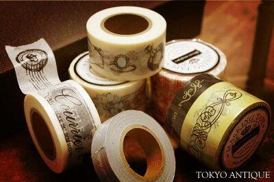 【東京アンティーク】マスキングテープ2巻セット