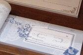 【メール便可能】【東京アンティーク雑貨文具】お花とレースの領収書