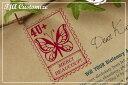 あなただけのオリジナルに★カスタマイズオーダー★蝶々の切手サンプル確認なしタイプ