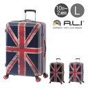 アジアラゲージ スーツケース 92L 74.5cm 4.3kg ユニオンジャック ALI-8933-28 A.L.I|ハード ファスナー キャリーバッグ キャリーケース TSAロック搭載