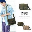 タケオキクチ バッグ TAKEO KIKUCHI クラプトン ショルダーバッグ メンズ ヌメ革 125103