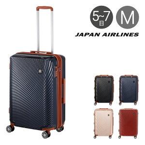 JAL スーツケース 65L 58cm 3.6kg 601-58 軽量 拡張 1年保証 ハード ファスナー TSAロック搭載 おしゃれ ジャパンエアライン [PO10][即日発送][bef]