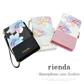 リエンダ スマートフォンケース rienda フラワープリント スマホマルチ手帳ケース Lサイズ レディース r03621608