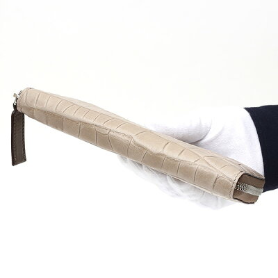 クロコワニ革長財布メンズ型押し本革レザーラウンドファスナートープ財布日本製レディース大容量サイフ小銭入れありボーデッサン(BEAUDESSIN)
