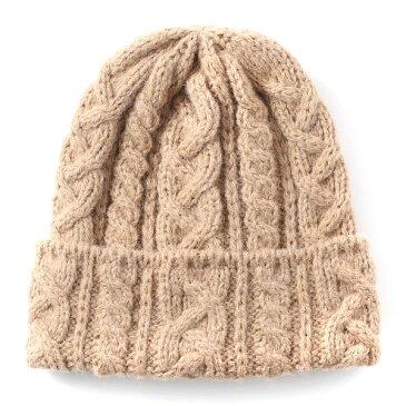 ハイランド2000 アルパカ80% 英国製 定番モデル 手織り ニット帽 メンズ レディース ボブキャップ アランニット ケーブル編み キャメルブラウン 茶 茶色 スノーボード 防寒 ゴルフ 帽子 大きいサイズ イギリス製 HIGHLAND2000