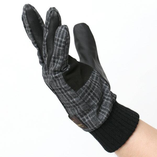 手袋 レザー スマホ対応 灰色 メンズ (クロダ) ダークグレーグレー KURODA グレイ グローブ 本革 ねずみ色