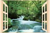 お風呂のポスター 奥入瀬の渓流 夏