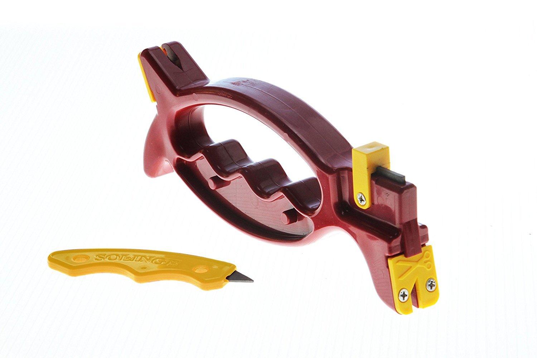 プロビジョン 万能研ぎ器ソリング 赤・(黄) SOL-RY  刃物研ぎ 包丁研ぎ ハサミ研ぎ