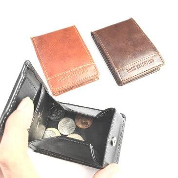 小銭入れ メンズ ボックス型 box box型 BOX型 コインケース 財布 メンズ 二つ折り 小銭入れあり コンビニ財布 メンズ財布 コインケース カード 小銭入れ ボックス パスケース【メール便送料無料】