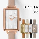 公式ブレダ腕時計BREDA時計EVA1738エヴァレディースクオーツレザーベルト日本製ムーブメントステンレススチールケース3気圧防水レクタンギュラーおしゃれ女性ギフト贈り物ブレスレット桜ピンクゴールド細ベルト