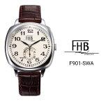 公式 エフエイチビー 腕時計 FHB LIAM リアム F901-SWA メンズ レディース クオーツ レザーベルト スイス製ムーブメント ステンレススチールケース 3気圧防水 クッションケース おしゃれ ギフト 贈り物