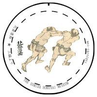 【缶バッジ】東京みやこ工房葛飾北斎北斎漫画三編より相撲(SUMOU)[漫画][ユニーク][お土産][HOKUSAI][日本製]