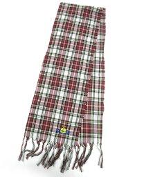 【中古】Vivienne Westwood / オーブ刺繍入りタータンチェック柄ストール ヴィヴィアンウエストウッド B19705_2009