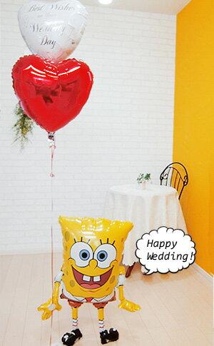 バルーン 結婚式 バルーン電報 ウェディング 電報 スポンジ・ボブからの祝福