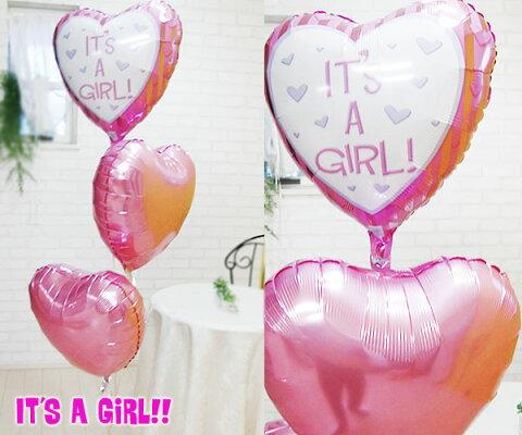 出産祝い バルーン 女の子 ☆ ガール