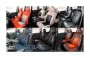 洗える 伸びる シートカバー 運転席・助手席 前座席 後部座席対応 左右独立型 かわいい リフィットシートカバー デニム風 2枚組 軽自動車・小型車・コンパクトカーに。フリーサイズ