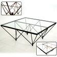 【送料無料】デザインが秀逸! ガラステーブル FT-35《机 テーブル リビングテーブル センターテーブル デザイン 幅80cm 正方形 店舗向け 完成品 日本製 国内製》