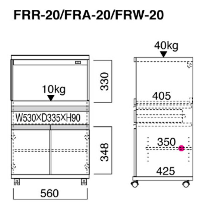 送料無料レンジ台レンジカウンター幅60キッチンカウンターラックレンジダイレンジラックレンジワゴンジャーワゴン日本製FFR-20レベッカオーク