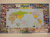 デスクマット★世界地図《子ども机 学習机 勉強マット 地理 国名 勉強 学力》