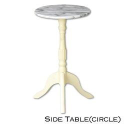 PrinceccLife大理石サイドテーブルサークル姫系クラシックインテリア