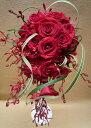 生花 ウェディングブーケ オーバルブーケ ティアドロップ (※ブートニア付き)銀座の花屋東京フラワー