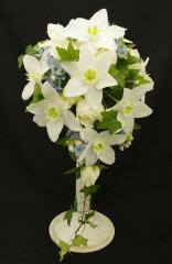 生花 ウェディングブーケ ユーチャリスのオーバルブーケ(※ブートニア付き)銀座の花屋東京フラワ…