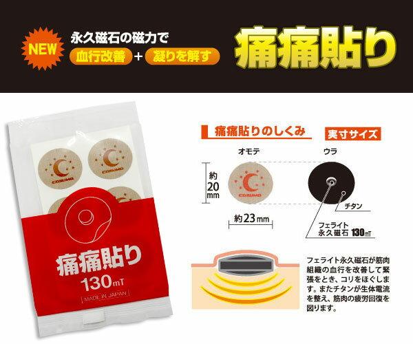 痛痛貼り84粒入りユニコ磁気バンF家庭用永久磁石磁気治療器日本製遠赤外線パワーチタンシートフェライト永久磁石130MT