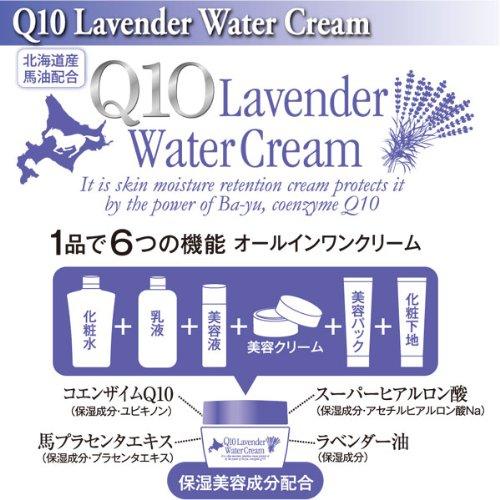 Q10ラベンダーウォータークリーム100gオールインワンジェルクリームQ10入り化粧下地スキンケア美容クリーム