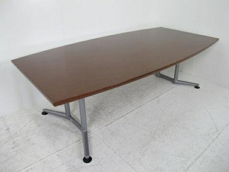 オカムララティオミーティングテーブル舟形天板タイプ