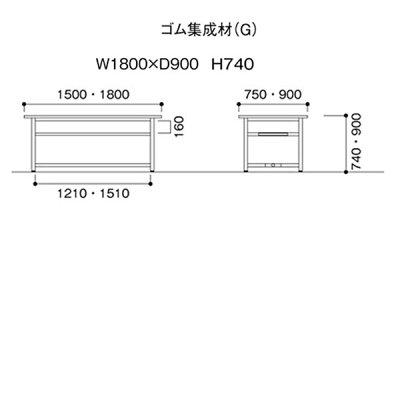 ニシキOHM作業台W1800D900H740OHM-1890G
