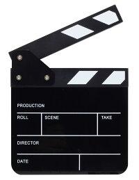 Alfotoカチンコ映画動画撮影用Youtube小道具ドラマや自主製作動画・映画で監督15.3x16.5cm用クラッパーボード