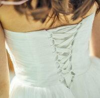 高級感溢れるウェディングドレス【披露宴ドレスパーティードレス花嫁ウェディングドレス】結婚式謝恩会お呼ばれドレスパーティードレスワンピースドレスワンピースラインドレスパーティドレスべアトップワンピー
