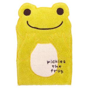 【pickles the frog】 かえるのピクルスプラスピクルス ダイカットタオルポーチ(サニーYE)【楽ギフ_包装】【無料_ラッピング】【5250円以上で送料無料】§§