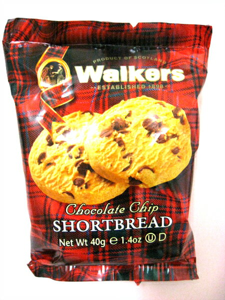 【輸入菓子】Walkers(ウォーカー) チョコチップショートブレッド 1ケース(12個入り)