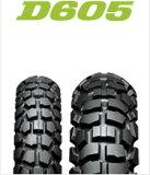 DUNLOP D605 2.75-21(フロント)&4.10-18(リア) 前後タイヤ・ノーマルチューブ・リムバンドセットダンロップ ・D605 タイヤ・チューブ・リムバンドセット商品番号231133・231135