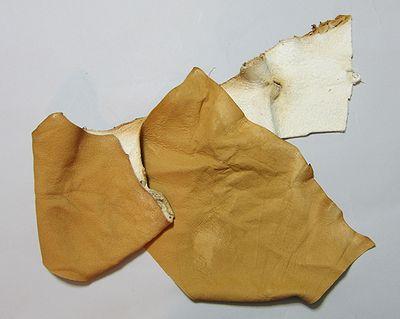 いぶし革(甲手部分修理用の革)