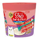 いなば チャオ CIAO ちゅ〜る まぐろ海鮮バラエティ 3種類の味入り スティック 猫 おやつ キャットフード 猫用 14g×120本