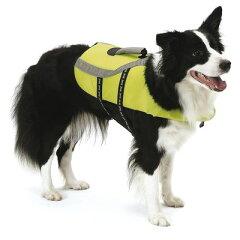 水辺でのお散歩やアウトドアのおともに 犬用ライフジャケットライフジャケットXS グリーン [ペ...