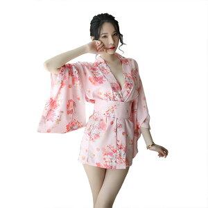 [2] غدًا ورديًا صغيرًا مثيرًا كيمونو فستان لامع كيمونو السيدات تأثيري زي oiran