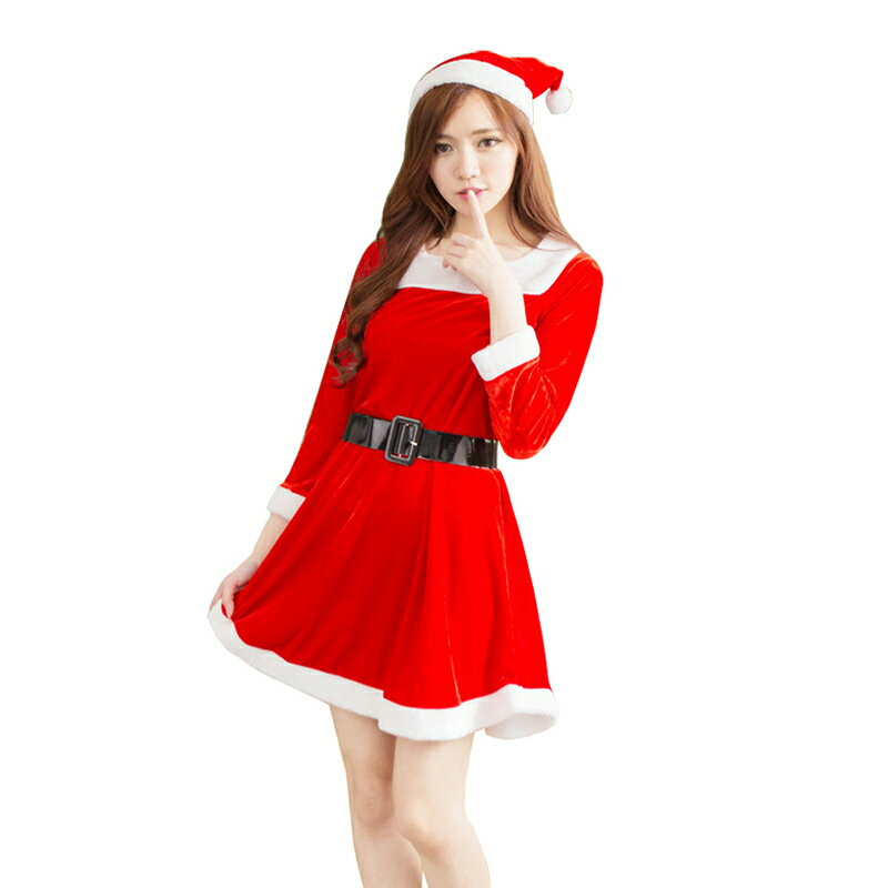 1aae3eca47b40  赤 3 あす楽 ベルト 長袖 クリスマス サンタ コスプレ 衣装 レディース コスチューム 大人