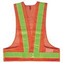 A-AB103 安全ベスト 反射ベスト フリーサイズ オレンジ/黄(メッシュ部:オレンジ/反射部:黄) 反射部50巾