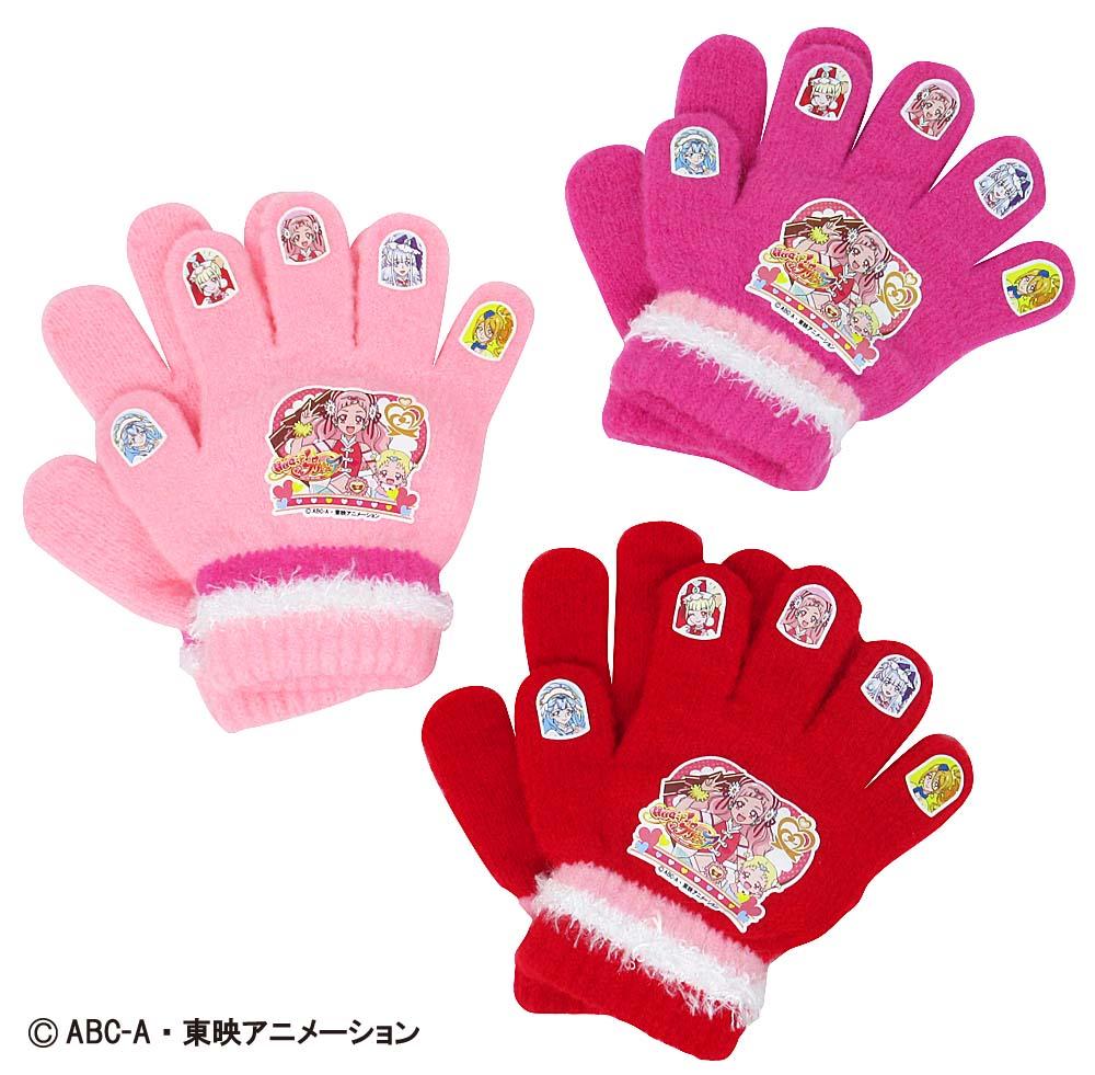 ※2018年度旧作品HUGっと!プリキュア ニット手袋 (日本製 国産 防寒 かわいい プリキュア おすすめ 子供 ぽかぽか キャラクター)画像