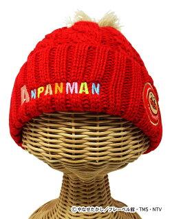 アンパンマンワッペンニット帽(帽子防寒かわいいおすすめ子供キャラクター)