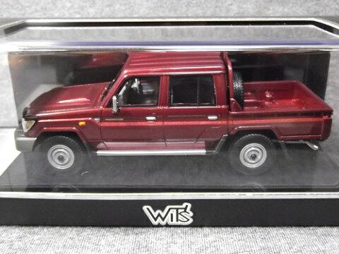ミニカー WIT'S W451 1/43 LAND CRUISER 70 PICKUP 30th Anniversary ダークレッドマイカメタリック ランクル