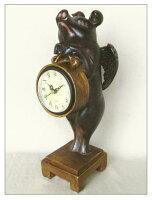 アンティーク調ウィングピッグ置時計(天使のブタちゃん置時計)