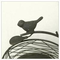 アイアン製小鳥付き時計