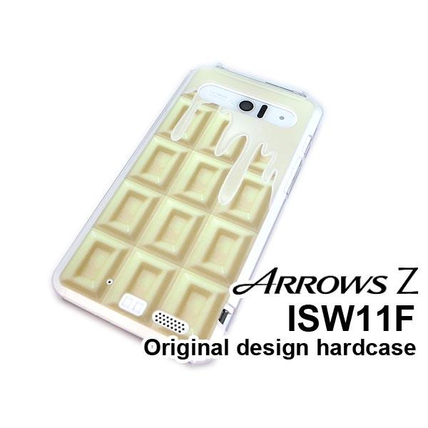 ゆうパケ送料無料【au ISW11F用ケース】【ARROWS Z ISW11F(ARROWS Z ISW11F)ISW11Fケース】[ケース/カバー/CASE/ケ−ス][アクセサリー/スマホケース/スマートフォン用カバー]板チョコ 溶けてる white チョコレート【isw11f-613】