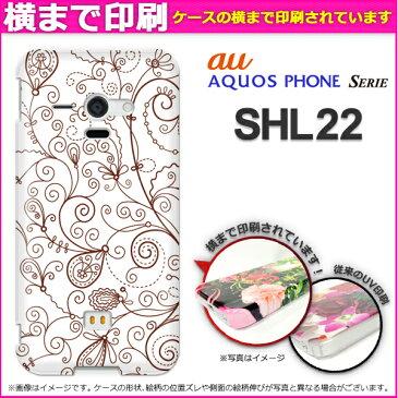 ゆうパケ送料無料★3D印刷★ [au AQUOS Phone SERIE SHL22(アクオス)用ケース][ケース/カバー/CASE/ケ−ス][アクセサリー/スマホケース/スマートフォン用カバー][花(ブラウン)/shl22-3d0074]