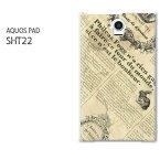 ゆうパケ送料無料【au AQUOS PAD SHT22 (アクオスパッド) ケース】[sht22 ケース][ケース/カバー/CASE/ケ−ス][アクセサリー/スマホケース/スマートフォン用カバー]【ニュースペーパー1(A)/sht22-M771】