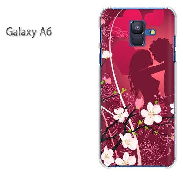 ゆうパケ送料無料 Galaxy A6 ケースギャラクシー a6 GALAXYクリア 透明 ハードケース ハードカバーアクセサリー スマホケース スマートフォン用カバー[ハート・LOVE(紫)/galaxya6-pc-new0618]